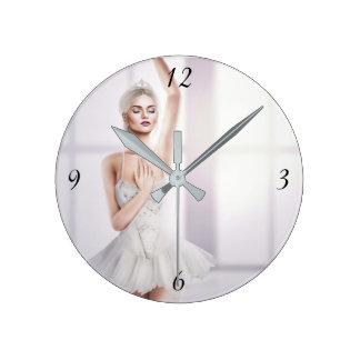 Ballerina Round Medium-Sized Wall Clock
