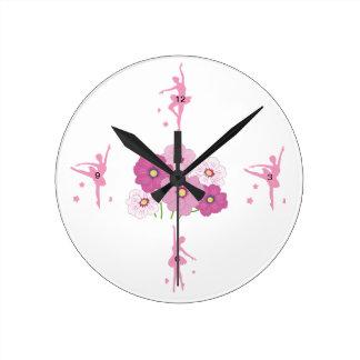 Ballerina Round (Medium) Wall Clock