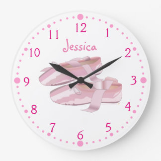 Ballerina Shoes Clock Personalized Ballet Gift