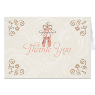 Ballerina Shoes Thank You Notecards Cards
