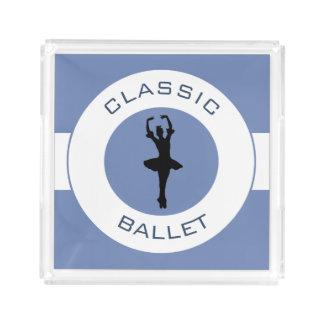 Ballerina Silhouette Acrylic Tray