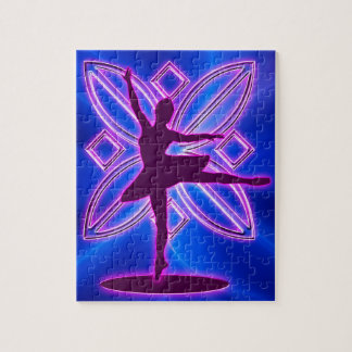 Ballerina silhouette dancing jigsaw puzzle
