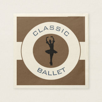 Ballerina Silhouette Disposable Napkin