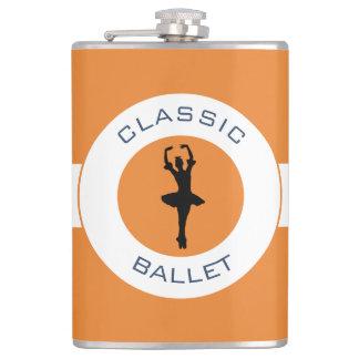 Ballerina Silhouette Hip Flask