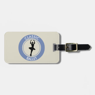 Ballerina Silhouette Luggage Tag
