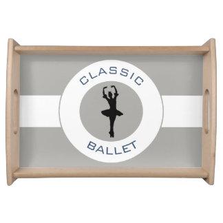 Ballerina Silhouette Serving Tray
