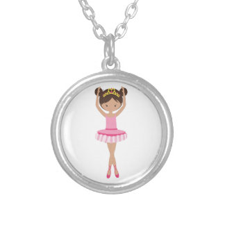 Ballerina Silver Plated Necklace