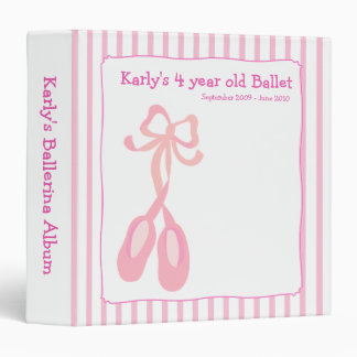 BALLERINA Slippers Ballet Girl Photo Album Vinyl Binder