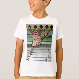 Ballerina Sock Monkey T-Shirt