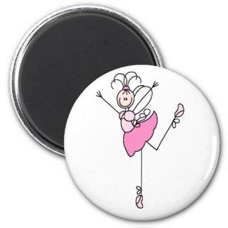 Ballerina Stick Figure Three Magnet
