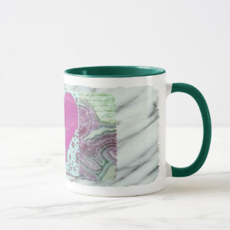 Ballerina Turning in Pink Heart Mug