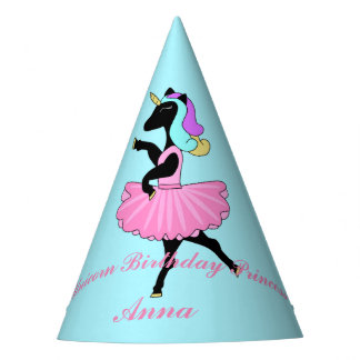 Ballerina unicorn party hat