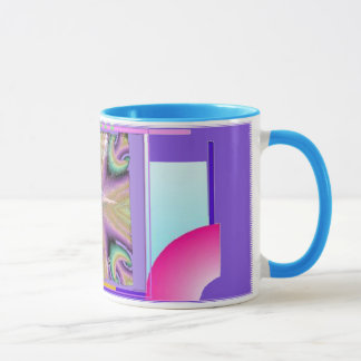 Ballerina with Colorful Geometric Background Mug