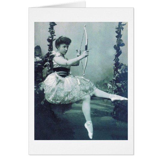 Ballerina with Cupid's Bow Card