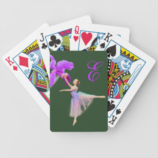 Ballerina with Orchid and Monogram Bicycle Playing Cards