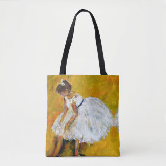 Ballerina with yellow & red tote bag
