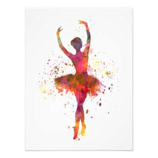Ballerina Woman ballet to dancer dancing Photo Print