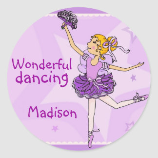 Ballerina Wonderful dancing sticker blonde/purple