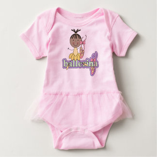 Ballerina - Yellow African American Baby Baby Bodysuit