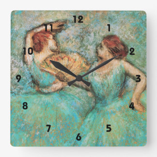 Ballerinas by Degas ~ Square Wall Clock