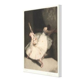 Ballerinas (Danseuse à la barre) Canvas Print