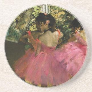 Ballerinas in Pink by Edgar Degas Coaster