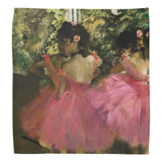 Ballerinas in Pink by Edgar Degas Head Kerchief