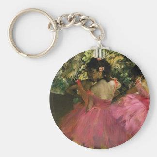 Ballerinas in Pink by Edgar Degas Keychain