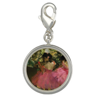 Ballerinas in Pink by Edgar Degas Photo Charms