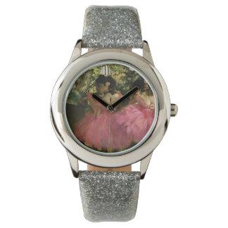 Ballerinas in Pink by Edgar Degas Wrist Watch