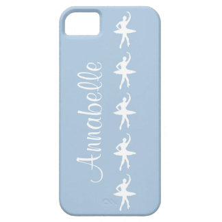 Ballerinas on Blue iPhone 5 Case