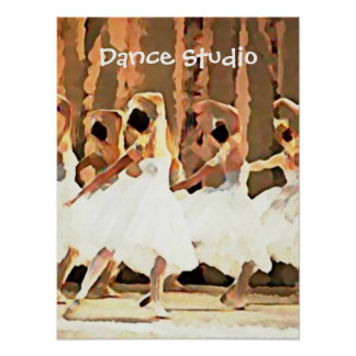 Ballerinas On Stage Ballet Dance Poster