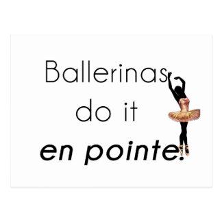 Ballerinas so it! postcard