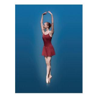 Ballerine gracieuse sur Pointe dans Postc rouge et Cartes Postales
