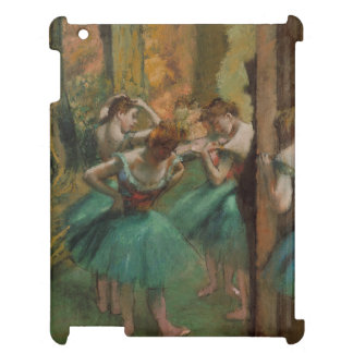 Ballet Artwork Dancers Pink and Green Edgar Degas iPad Cases