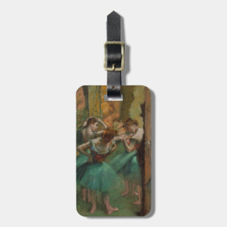 Ballet Artwork Dancers Pink and Green Edgar Degas Luggage Tag
