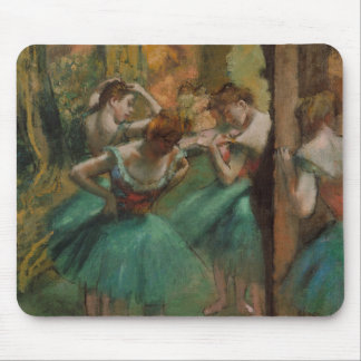 Ballet Artwork Dancers Pink and Green Edgar Degas Mouse Pad