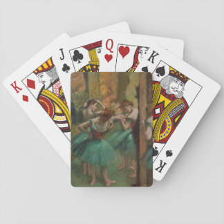 Ballet Artwork Dancers Pink and Green Edgar Degas Playing Cards