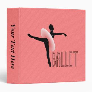 Ballet Attitude 3 Ring Binder