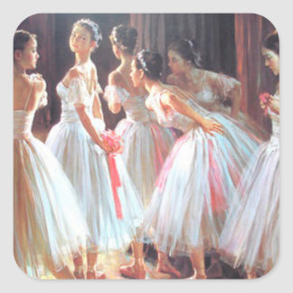 Ballet_Ballerina Girls Square Sticker