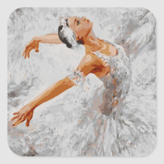 Ballet_Ballerina Square Sticker