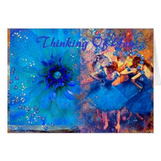 Ballet & Baubles, Custom Greeting Card