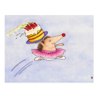 Ballet Birthday postcard by Nicole Janes