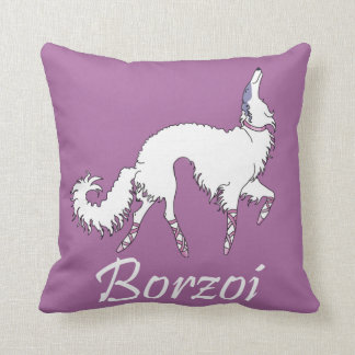Ballet Borzoi Throw Pillow