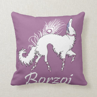 Ballet Borzoi White-Pink Pillow