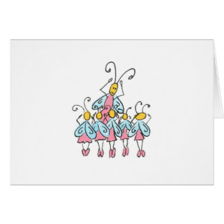 Ballet Bugs Note Card