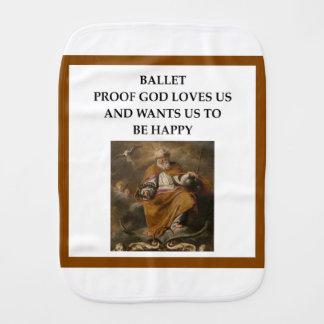 ballet burp cloth