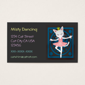Ballet Cat Business Card