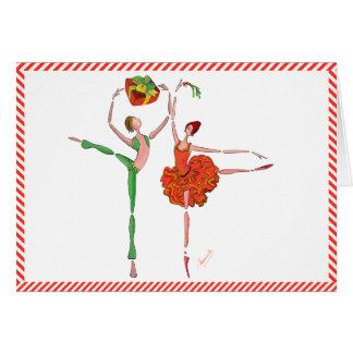 Ballet Christmas Gift , Mistletoe, Kitri and Ali Card