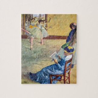 Ballet Class, the Dance Hall by Edgar Degas Jigsaw Puzzle